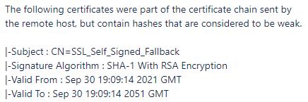 SSL Self Signed Fallback SQL Server