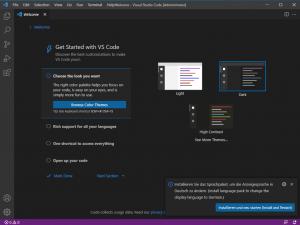 Visual Studio Code Sprachpaket